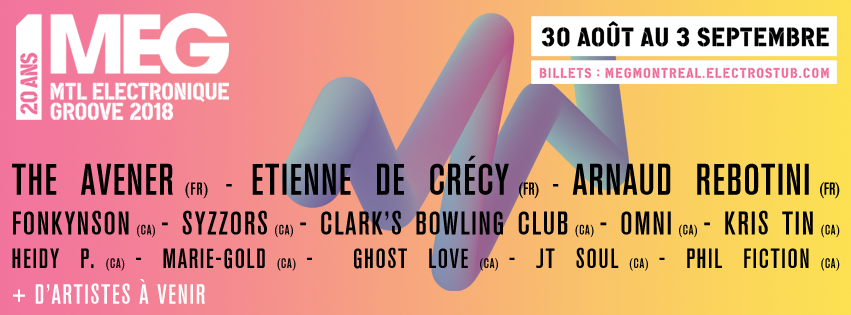Festival MEG Montreal announce its first artists
